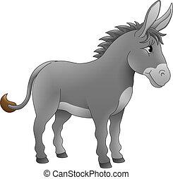 Donkey Animal Cartoon Character