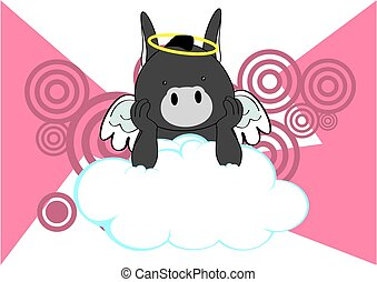donkey baby cute angel cartoon