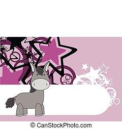 donkey cartoon background