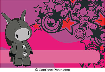 donkey cartoon background6