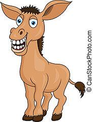 Donkey head cartoon vector illustration - Search Clipart ...