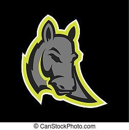 Donkey head mascot