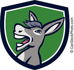 Donkey Head Shouting Crest Retro