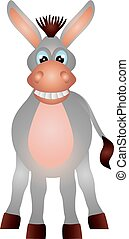 Donkey Illustration - Donkey Isolated on White Background...