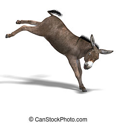 Donkey Render - Rendering of a mule with Clipping Path over ...