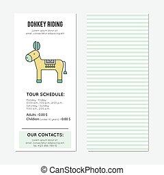 Donkey riding vertical banner