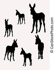Donkey silhouettes 02.
