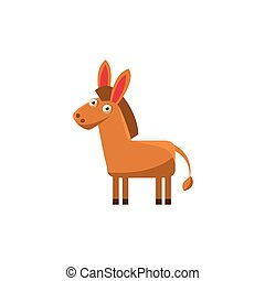 Donkey Simplified Cute Illustration