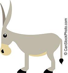Donkey - Vector illustration of a cute donkey. Illustrator 8...