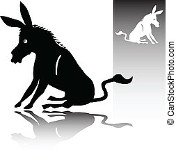 donkey vector silhouettes