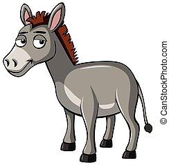 Donkey with sad smile