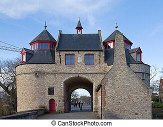 Donkey's Gate (circa XVII c.). Bruges, Belgium