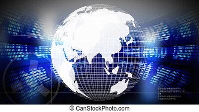 données, 4k, contre, stockage, tourner, marché, globe