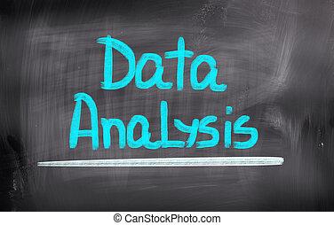 données, analyse, concept