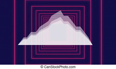 données, arrière-plan violet, graphique, carrés, croissant