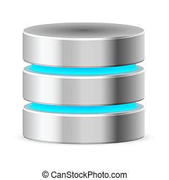 données, base, icône