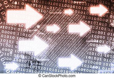 données binaires, ruisseau