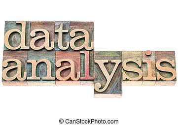 données, bois, type, analyse