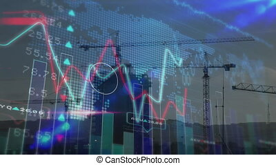 données, code, contre, stockage, binaire, marché, construction