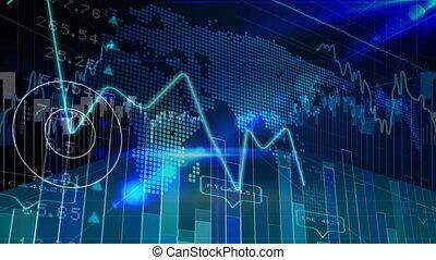 données, code, stockage, binaire, marché