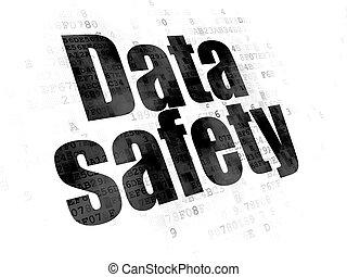 données, concept:, données, sécurité, sur, arrière-plan numérique