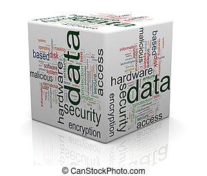 données, concept, protection