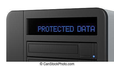 données, concept, stockage, assurer
