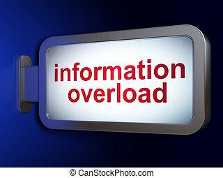données, concept:, surcharge information, sur, panneau affichage, fond