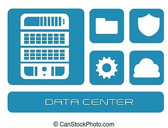 données, conception, centre