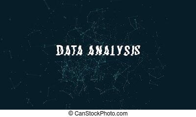 données, connecter, polygonal, points, lignes, analyse