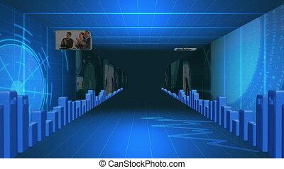 données, couloir, statistique