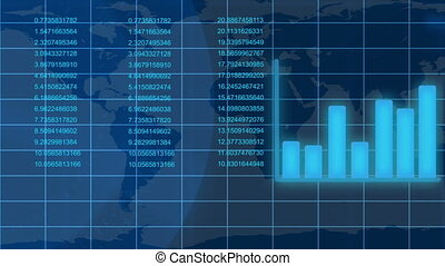 données, croissant, animé, financier