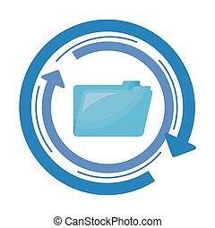 données, dossier, document, flèches