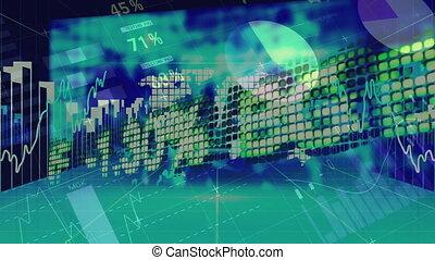 données, en mouvement, directions, bourse, tout