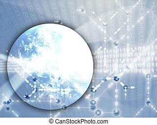 données, global, transfert