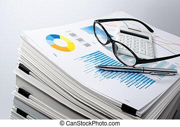 données, management., document, management., business, concept.