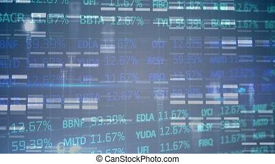 données, marché, fond, stockage, contre, bleu, traitement