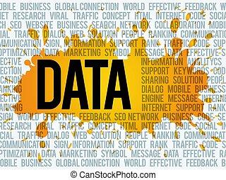 données, mot, nuage