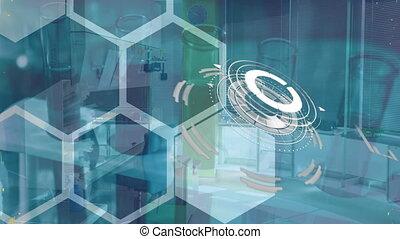 données, pro, rotation, composés, chimique, scientifique, brin, structural, formulae, adn, animation