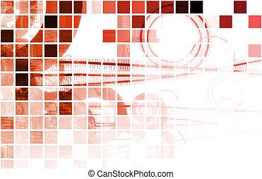 données, réseau, rouges, internet