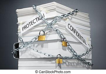 données, security., protégé, documents., confidentiel, information.