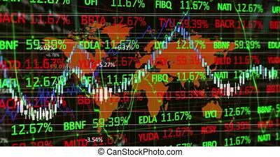 données, stockage, contre, statistique, carte, marché, mondiale, traitement