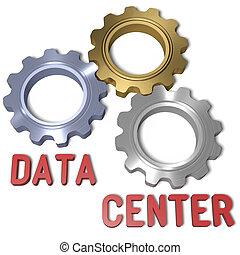 données, technologie, centre, réseau