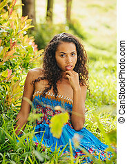donna americana, africano