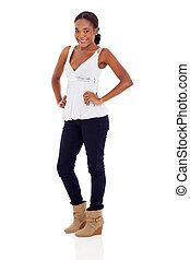 donna, americano africano, attraente