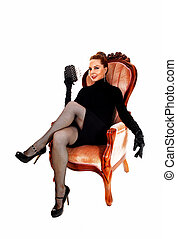 donna, armchair., seduta