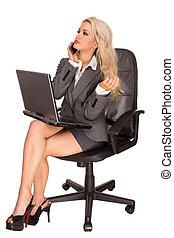donna, attraente, affari