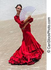 donna, ballerino, flamenco, spagnolo