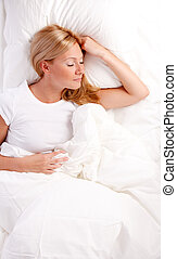 donna, bed., giovane