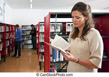donna, biblioteca
